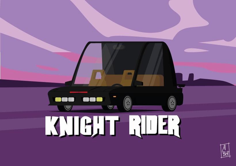 Homenaje a coches míticos de mi infancia: Kitt -1