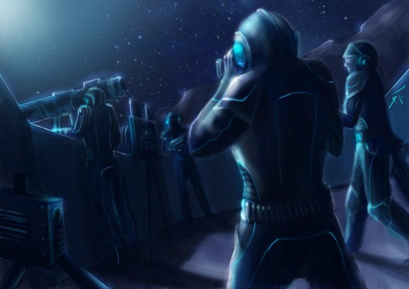 Dark Frontier - Ilustración Digital 2