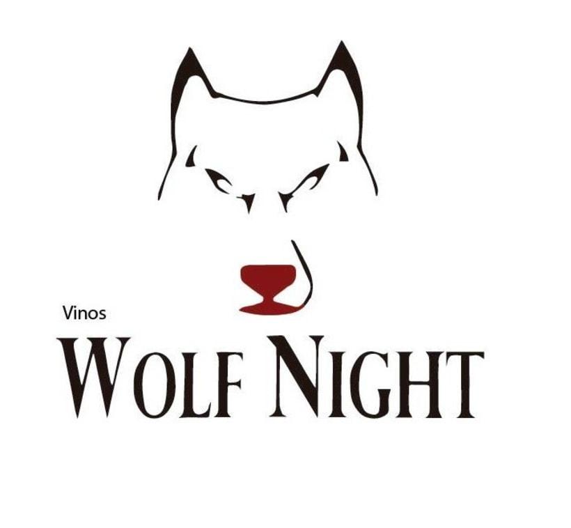 """Logo ficticio para marca de vinos """"Wolf Night"""" -1"""