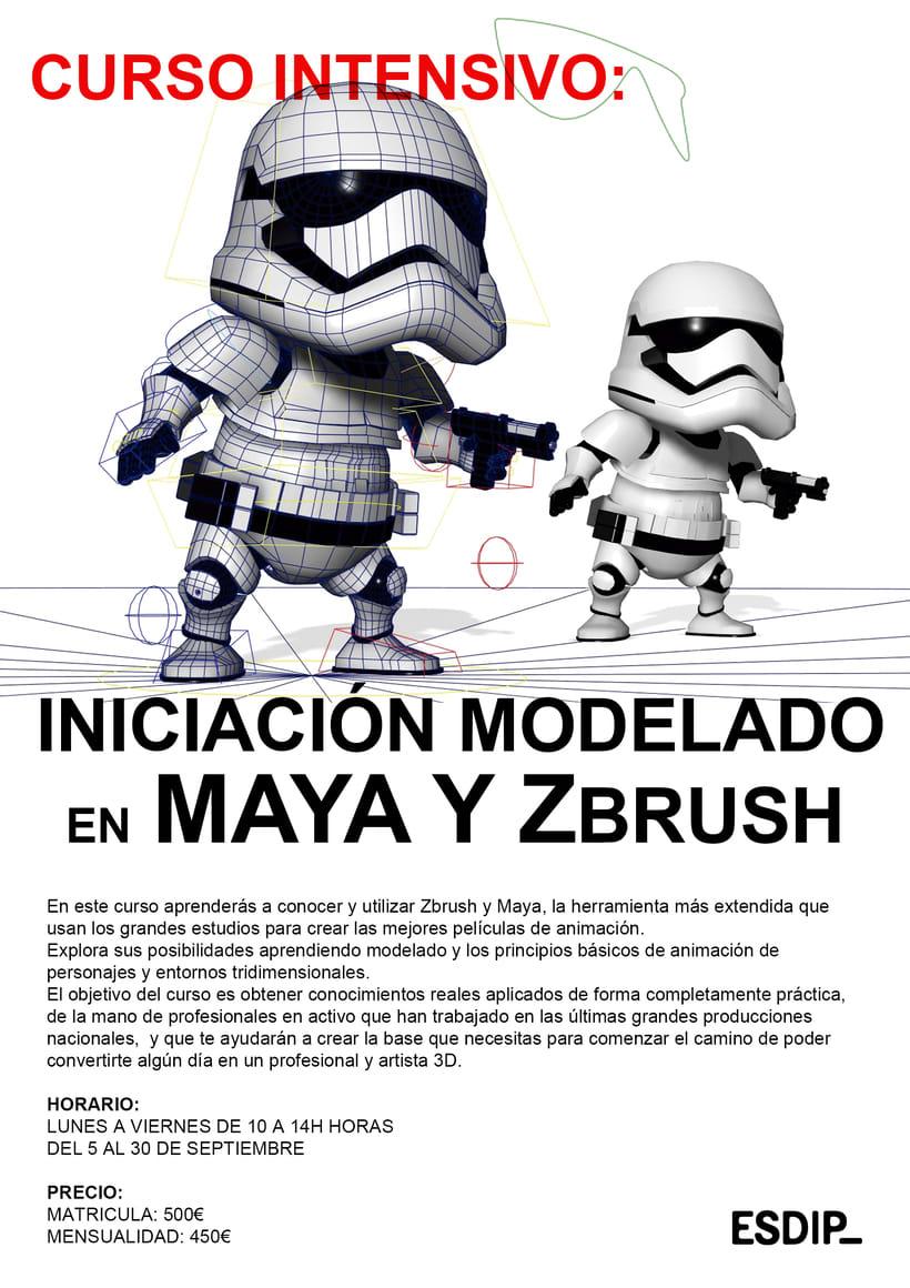 Curso intensivo de verano de inicación al modelado con Maya y ZBrush 1