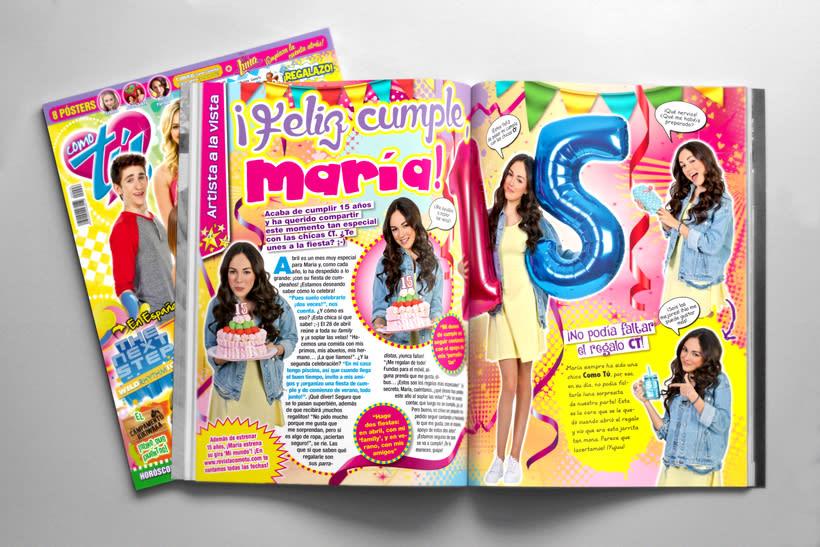 "Maquetación. Revista ""Como tú"" -1"