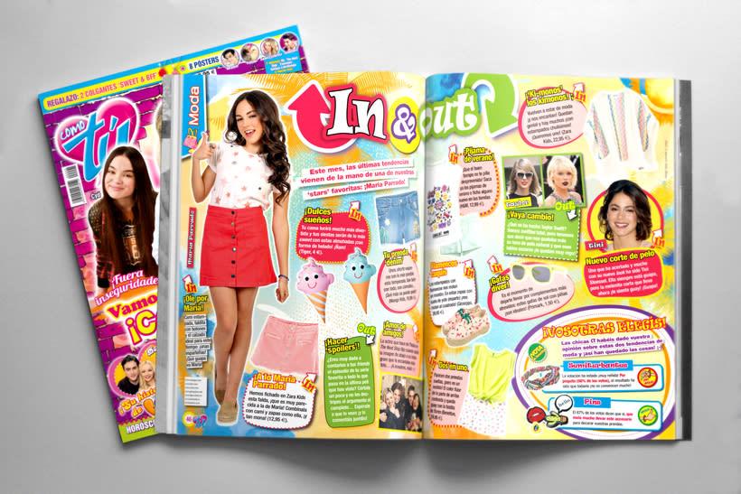 "Maquetación. Revista ""Como tú"" 0"