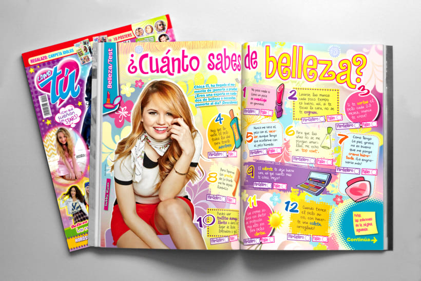 "Maquetación. Revista ""Como tú"" 1"