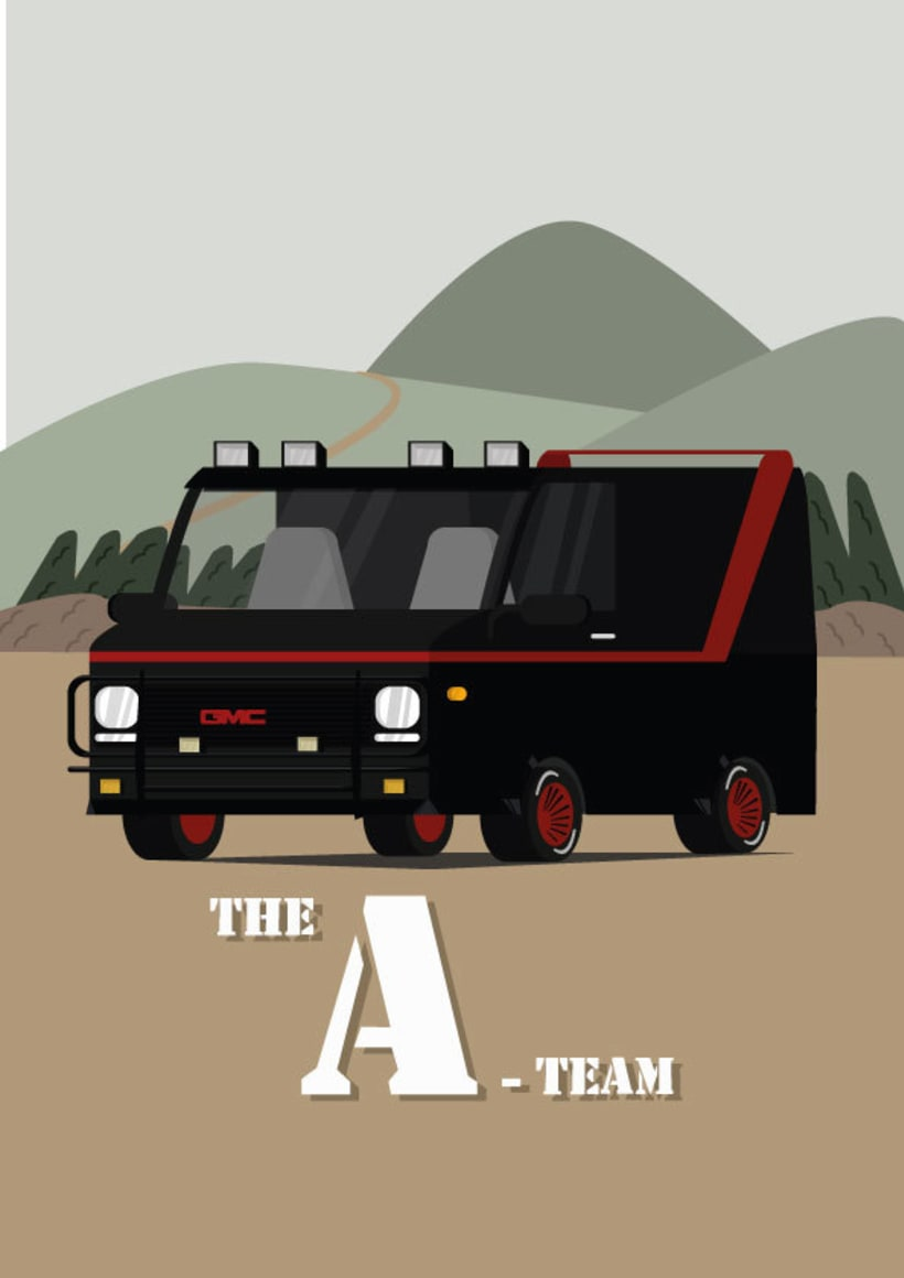 Homenaje a coches míticos de mi infáncia: La furgontea del equipo A -1