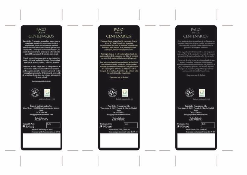 BRANDING Aceite de Oliva Virgen Extra Pago de los Centenarios 8