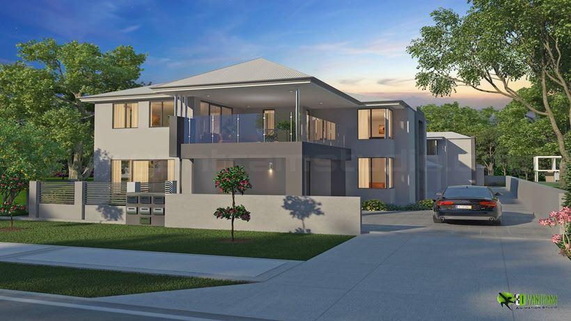 3D Arquitectónico del Exterior de 5