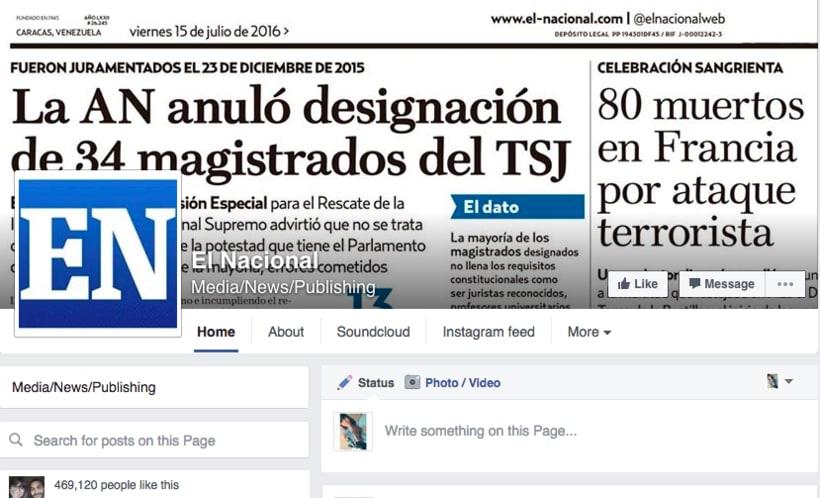 Social Media Coordinator para Diario El Nacional 0