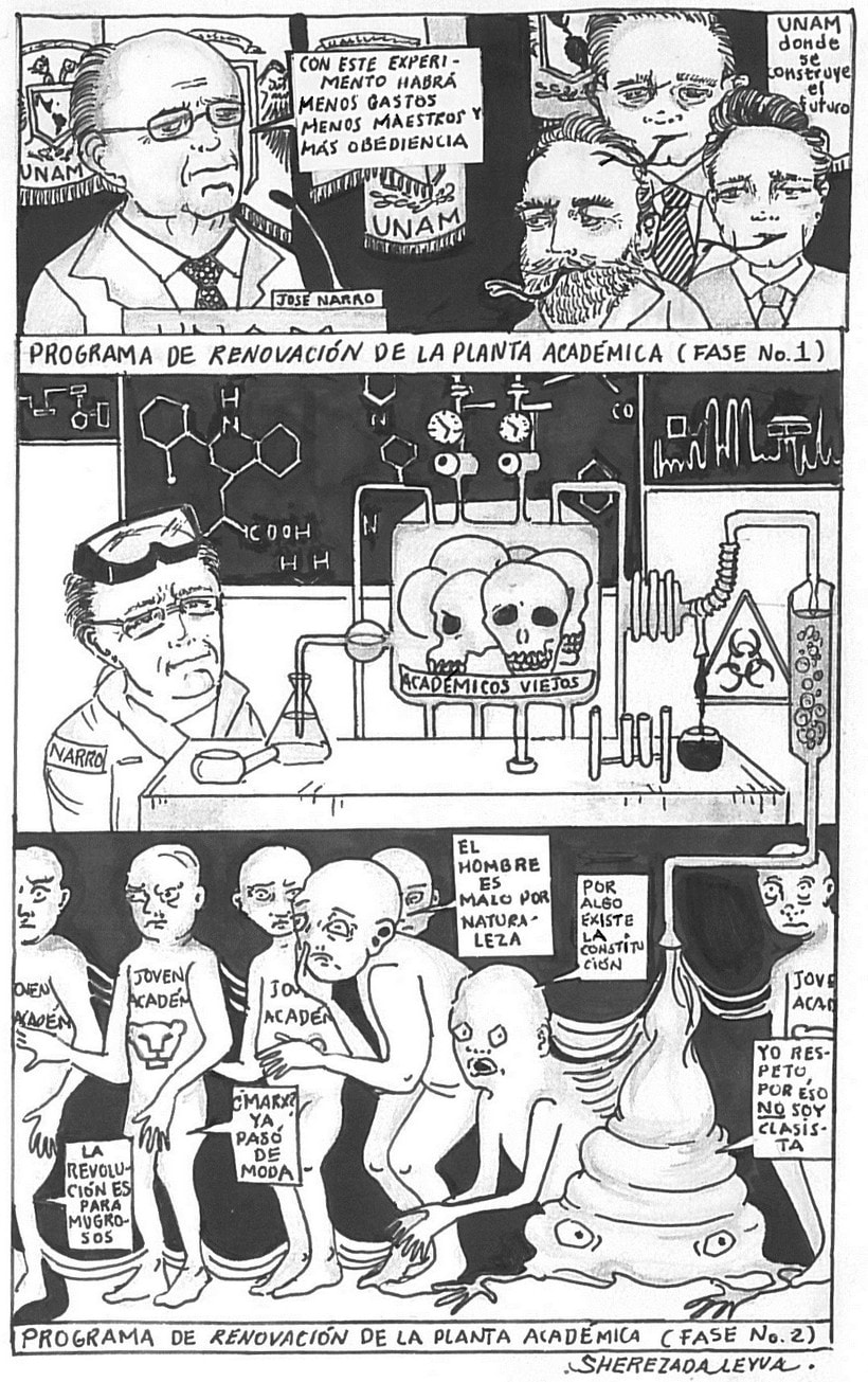 Caricaturas para el periódico político Columna Roja (antes Quebranto) 2