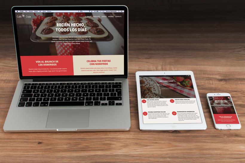 Café Oslo. Una página web responsive 0