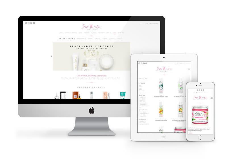 Laia Martín Beauty Shop: website + e-shop + branding 0