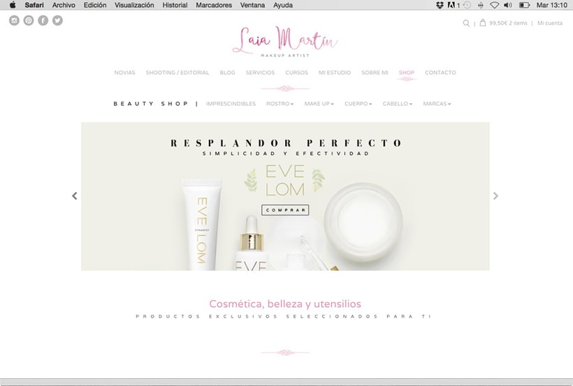 Laia Martín Beauty Shop: website + e-shop + branding 1