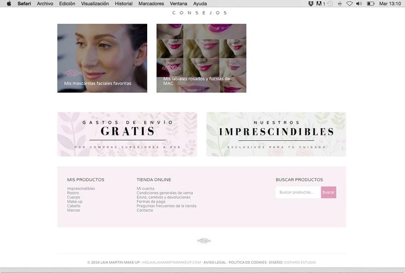 Laia Martín Beauty Shop: website + e-shop + branding 2