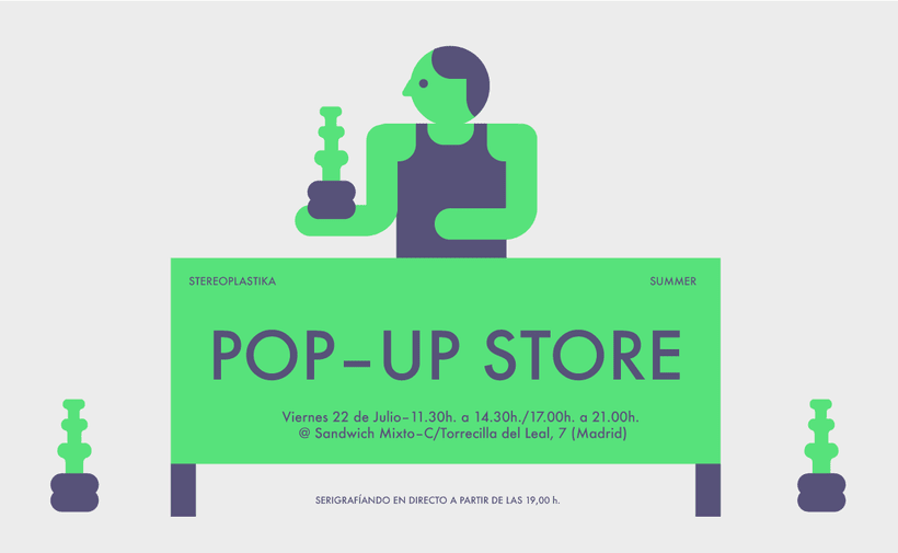 Pop up store + serigrafía en vivo en Sandwich mixto este viernes 1