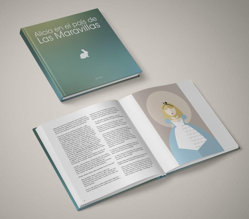 Diseño editorial: Alicia en el País de las Maravillas 0
