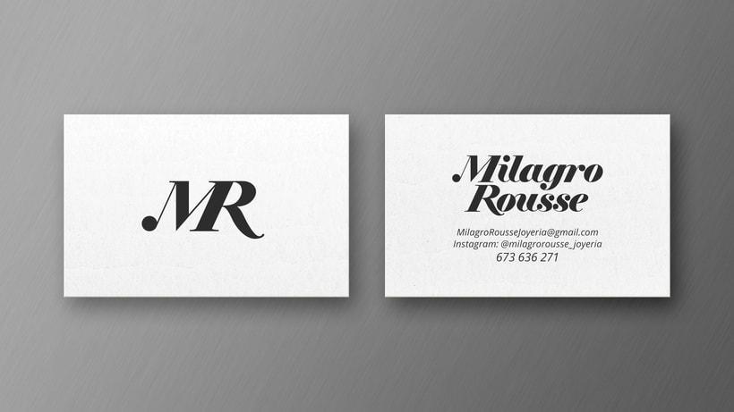 Logotipo Joyería Milagro Rousse 1