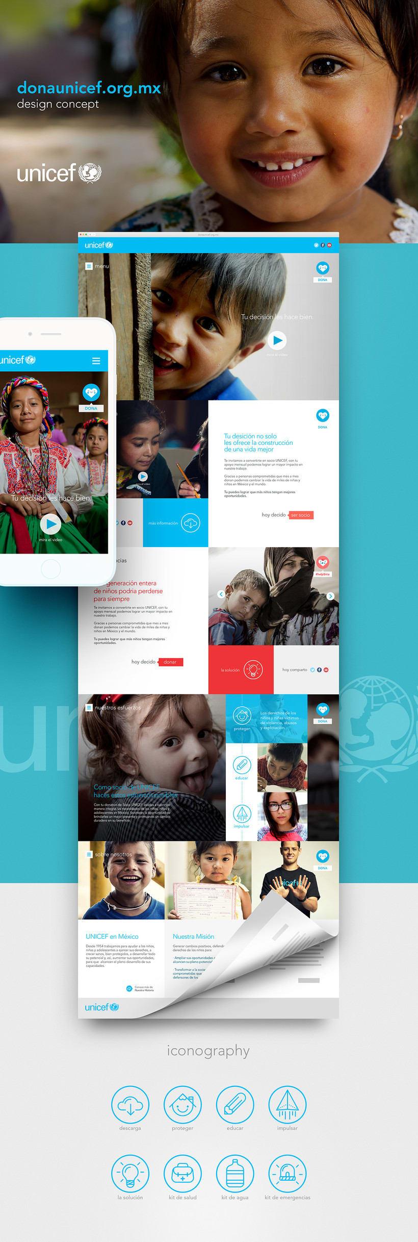 Dona UNICEF. Design concept -1