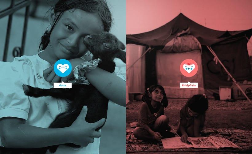 Dona UNICEF. Design concept 1