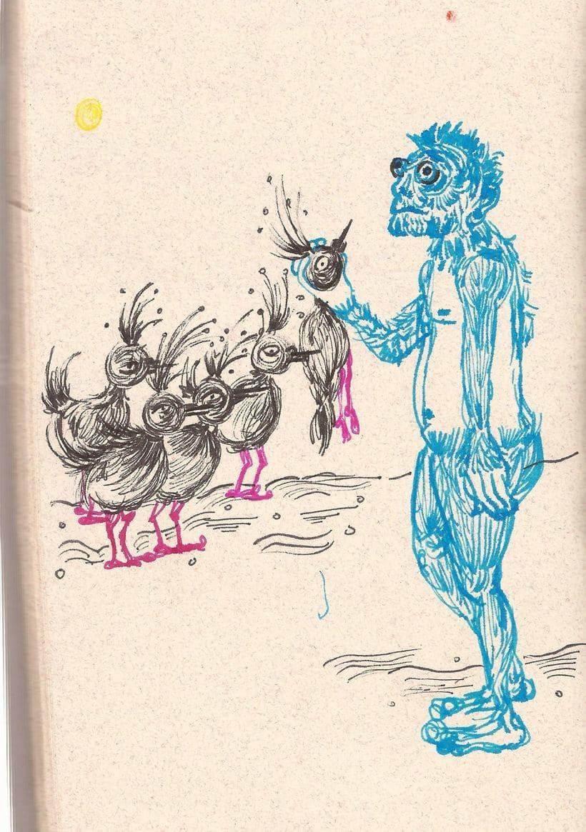 Dibujos en mis  libretas  2