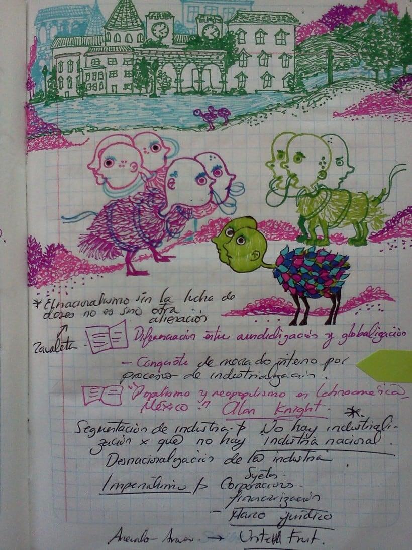 Dibujos en mis  libretas  5