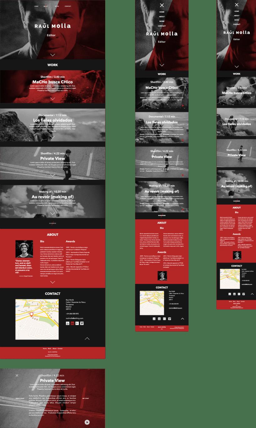 Mi Proyecto del curso: Raul Molla - Editor Portfolio 3
