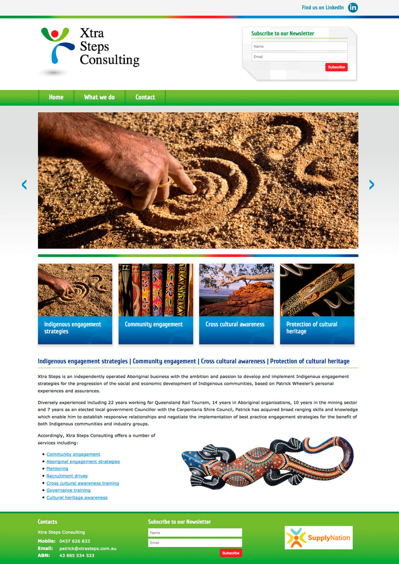 Website Empresa Australiana 1