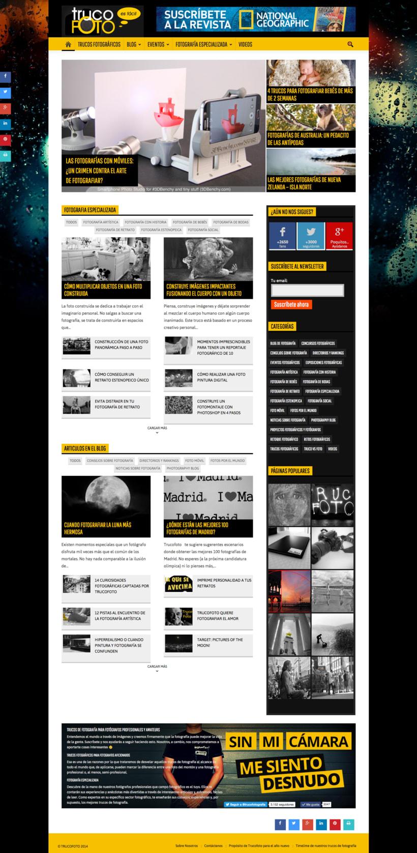 Fundador de TRUCOFOTO, revista digital sobre fotografía 1