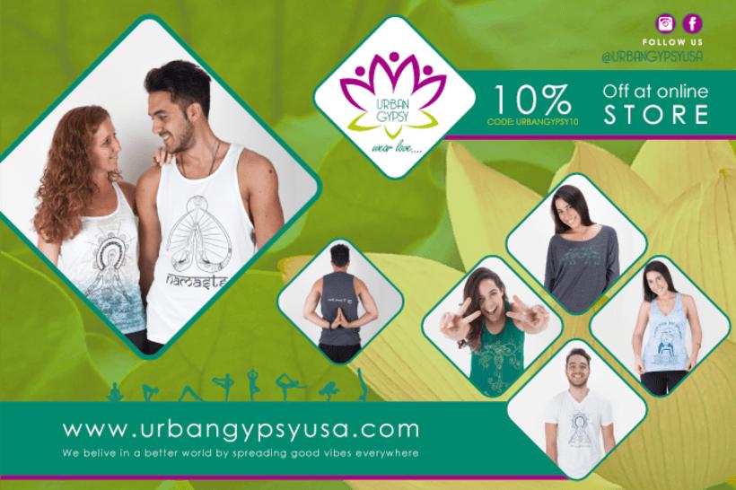 Cliente: Urban Gypsy | proyecto: Ilustración para franelas y diseños para publicidad 1