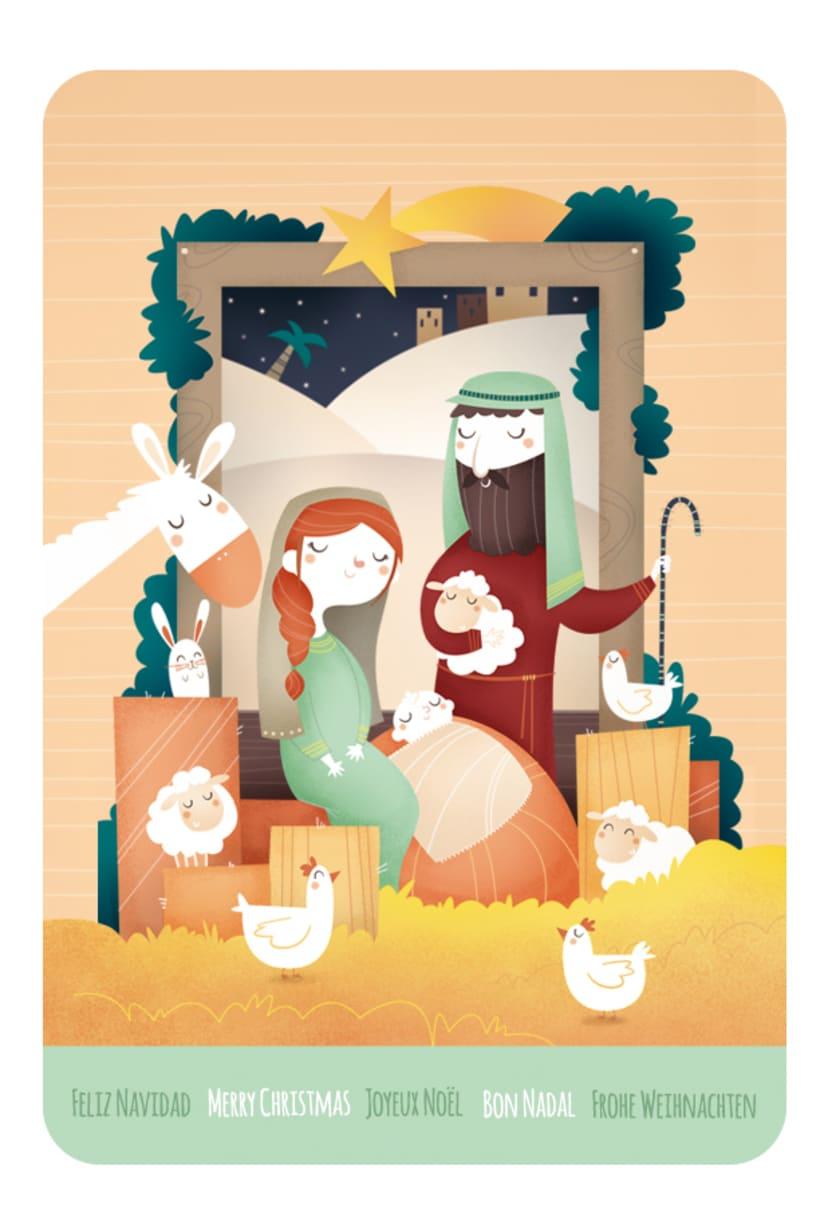 Hacia Belén. Ilustración infantil 3