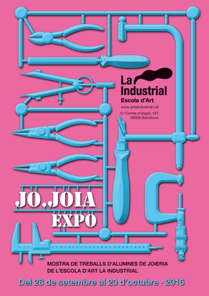 Cartel para la expo JoJoia · circuito OffJoya de Joya Barcelona 0