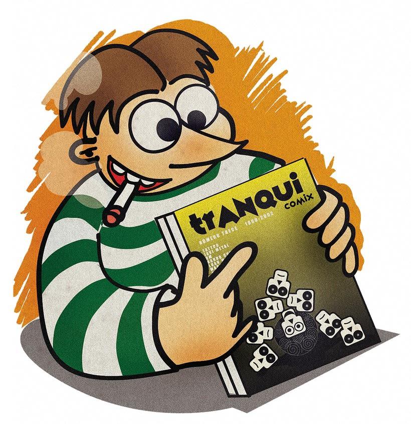 Triqui, Traca y Pirracas. Marca e ilustraciones. Camisetas. -1