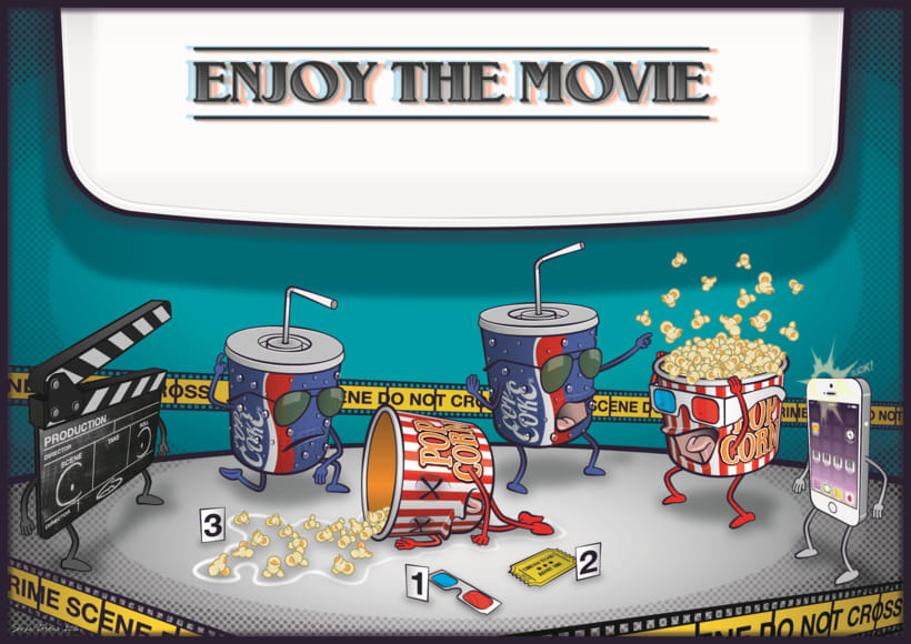 """Enjoy the Movie"" Proyecto Curso: Ilustración para no ilustradores 0"