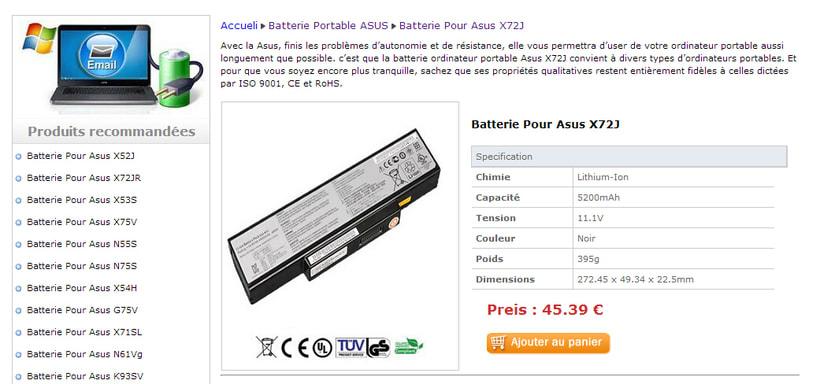 Asus X71SL Batterie Acheter -1