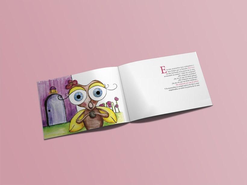 """Ilustración cuento infantil """"La cucarachita Martinez"""" 2"""