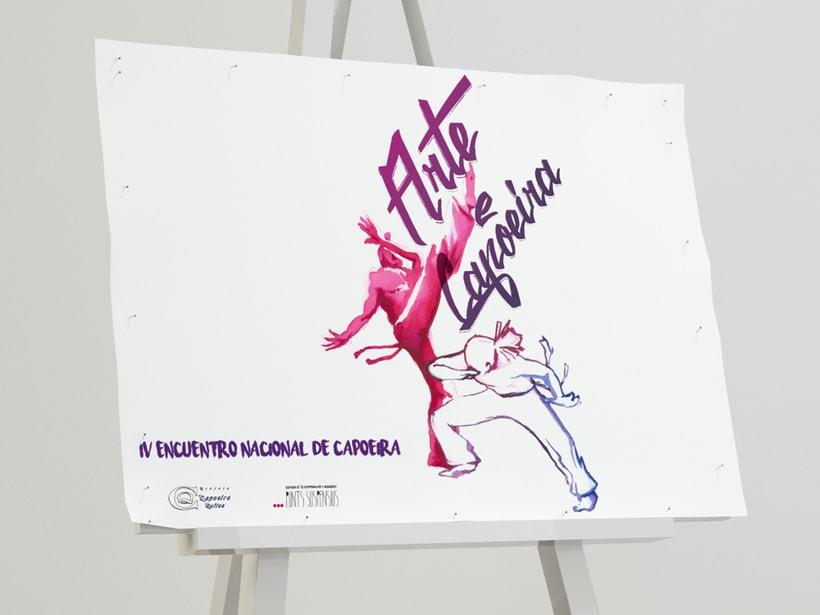 """Branding para evento: """"IV Encuentro Nacional de Arte y Capoeira"""" 0"""