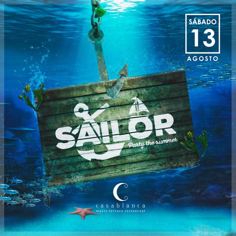 Cartelera Fiesta Sailor · Casablanca · 7