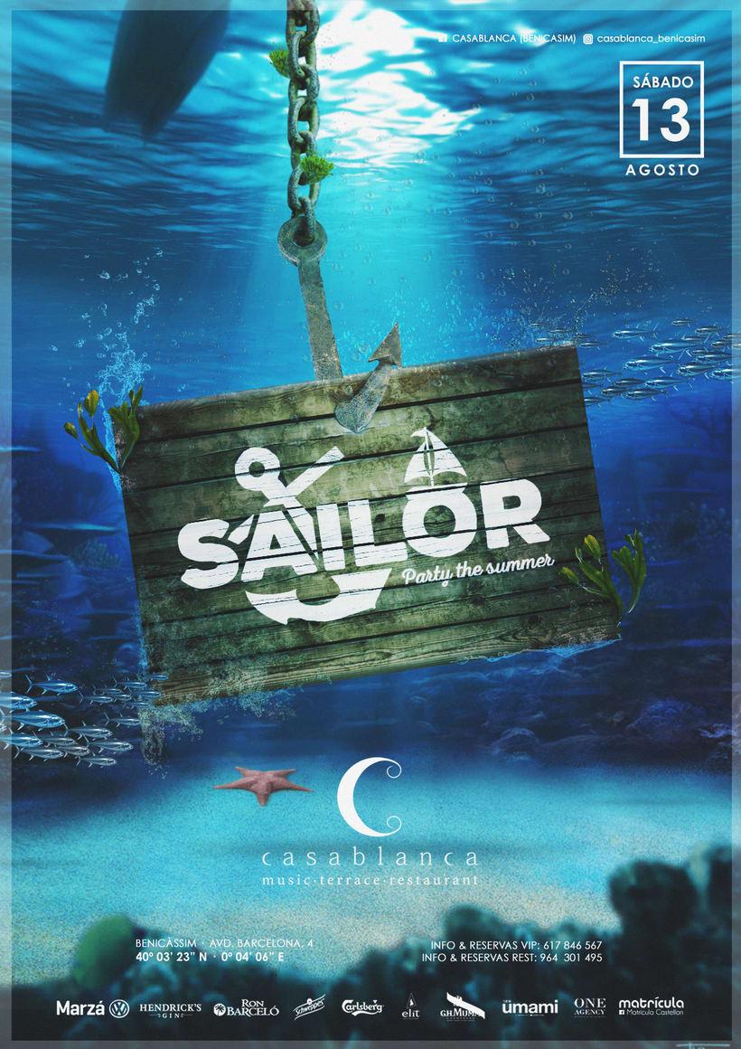 Cartelera Fiesta Sailor · Casablanca · 6