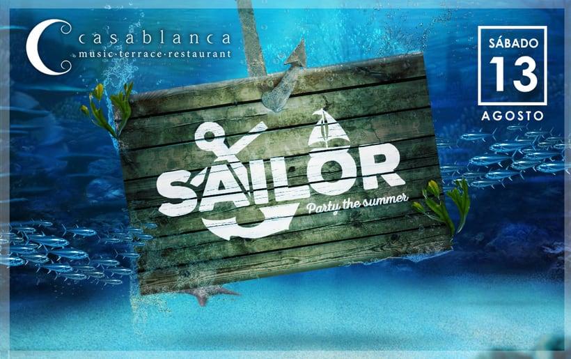 Cartelera Fiesta Sailor · Casablanca · 8