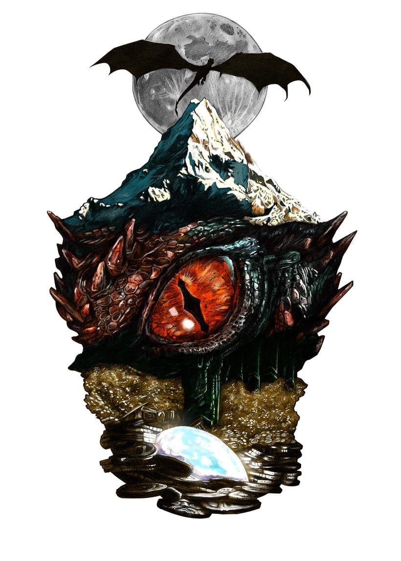 SMAUG EL TERRIBLE. Un pequeño homenaje al último gran dragón 3