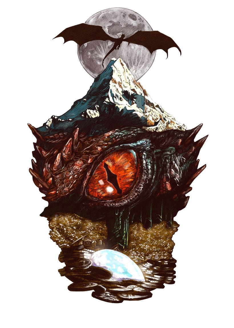 SMAUG EL TERRIBLE. Un pequeño homenaje al último gran dragón 4