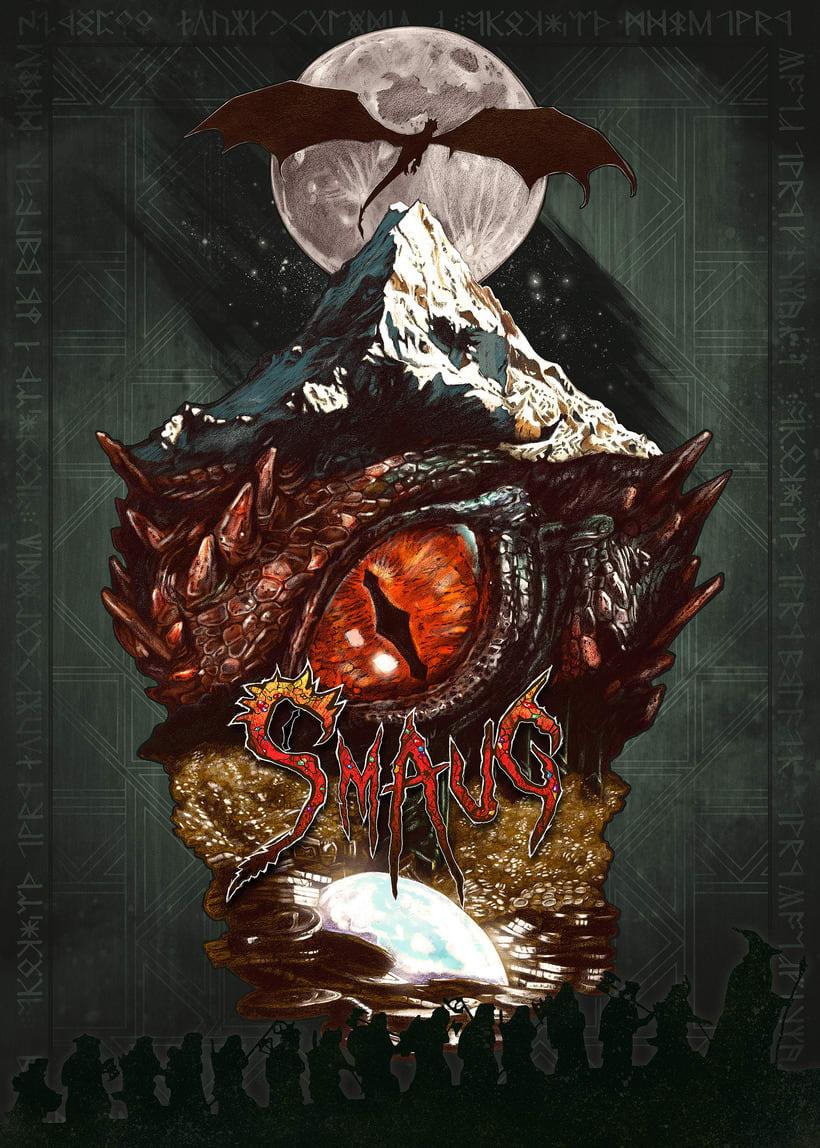 SMAUG EL TERRIBLE. Un pequeño homenaje al último gran dragón 7