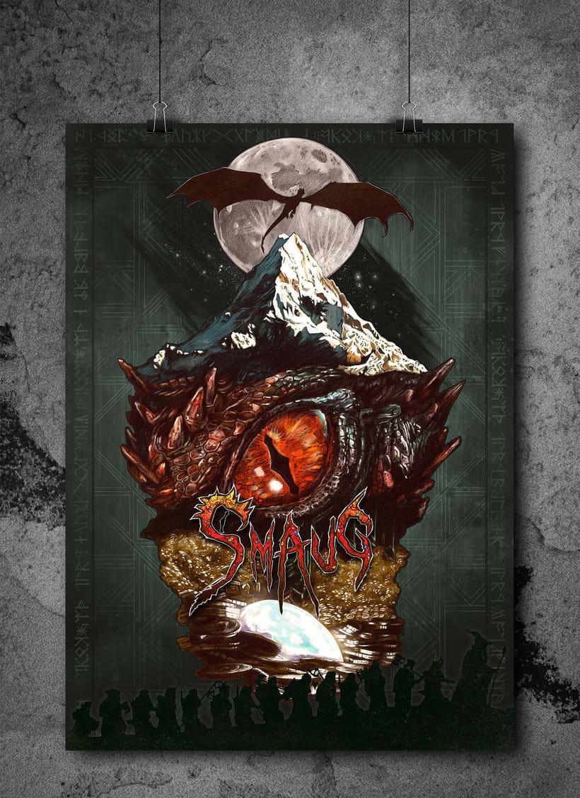 SMAUG EL TERRIBLE. Un pequeño homenaje al último gran dragón 14