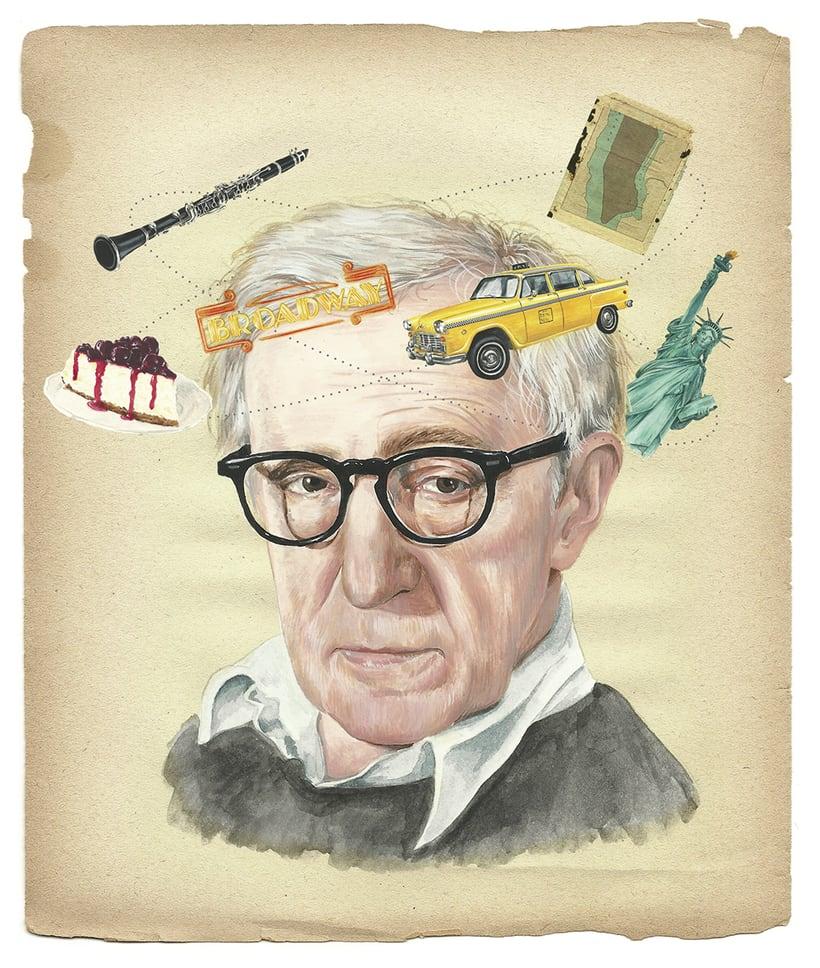 Woody Allen. Ilustración para Tentaciones de El País. 0
