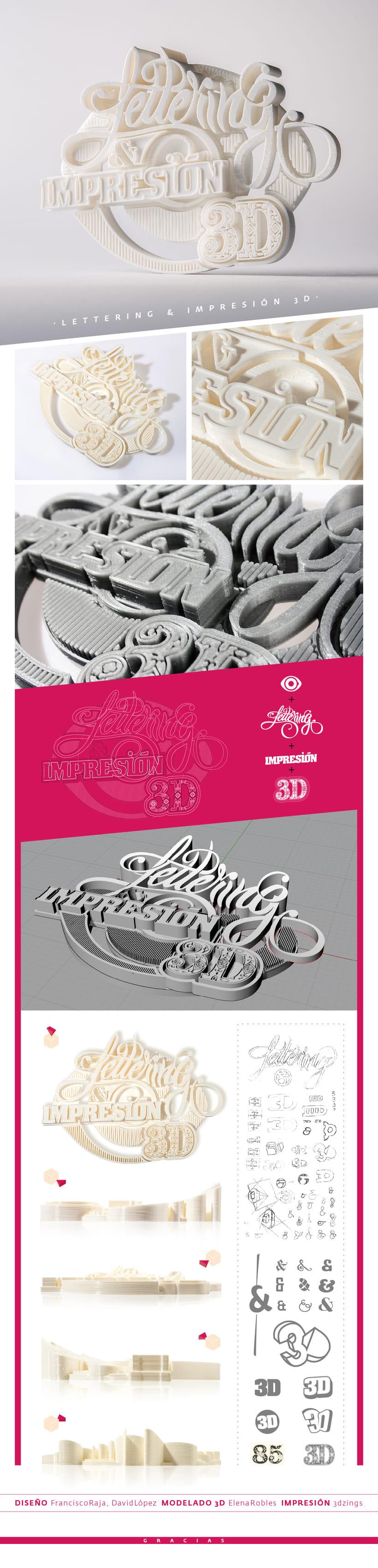 Lettering & impresión 3D 0