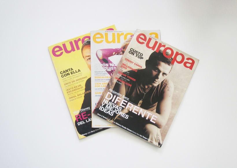 Ilustraciones y maquetación para revista EUROPA 1