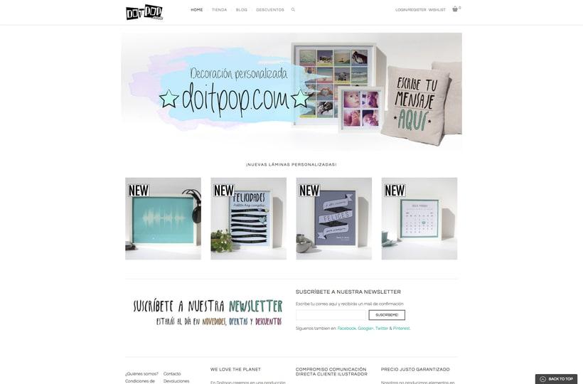 Diseño y creación Web Doitpop.com 2
