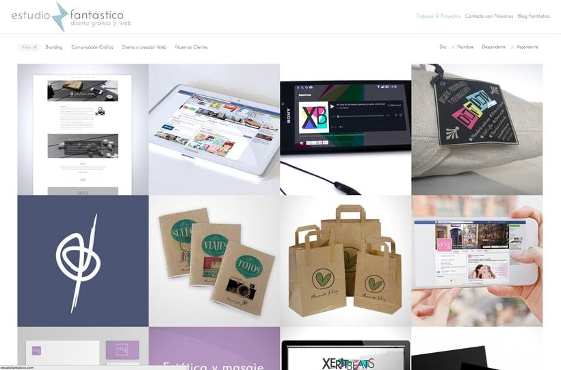 Diseño y creación Web Estudio Fantástico 2