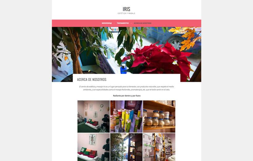 Diseño y creación web para IRIS Estética y Masaje 2
