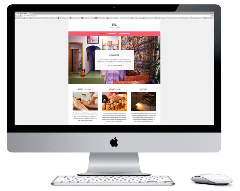Diseño y creación web para IRIS Estética y Masaje 0