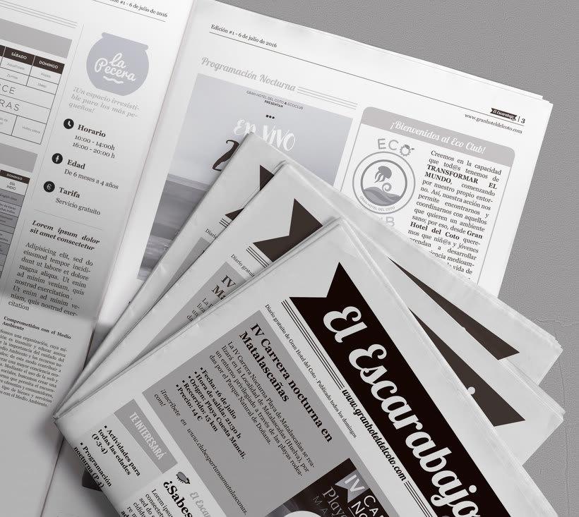 """Diseño editorial """"El Escarabajo"""" (Gran Hotel del Coto) 0"""
