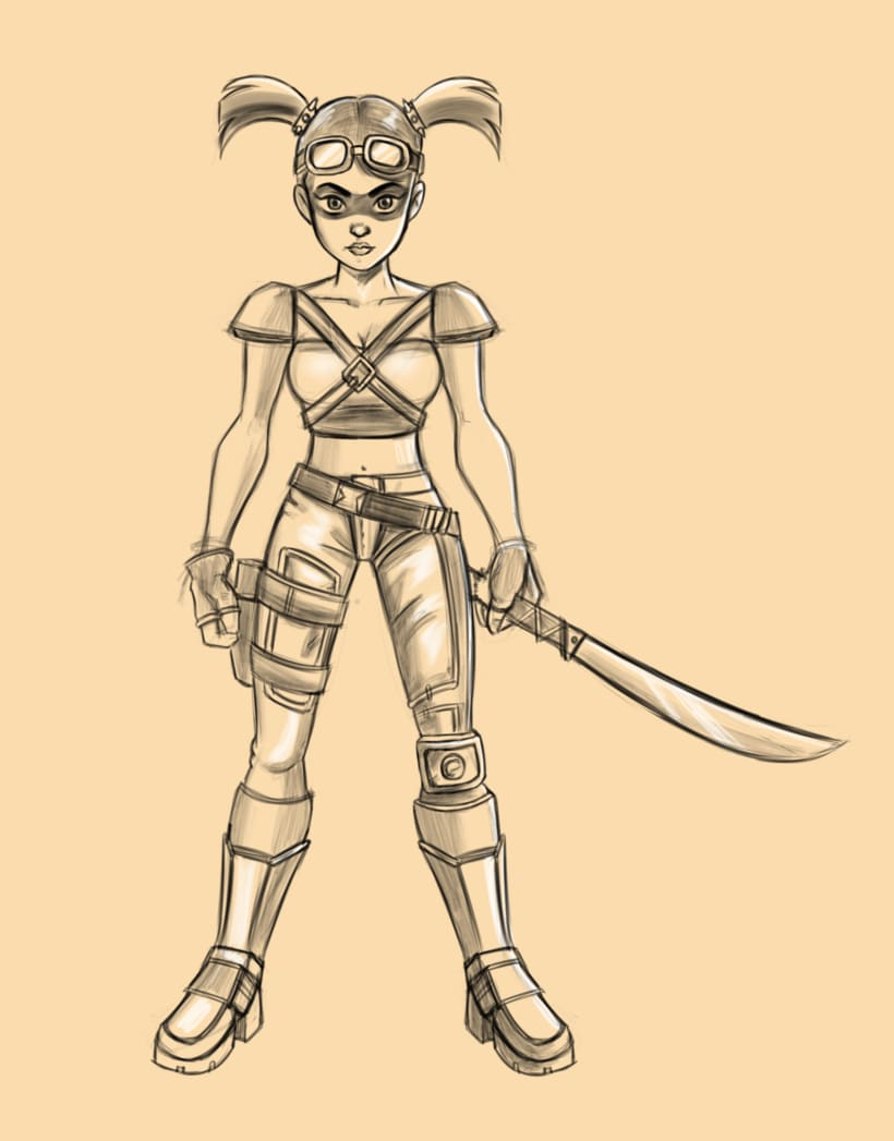Doodles madmax style girl -1